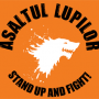 Steag oficial Asaltul Lupilor Stand Up and Fight (orange)