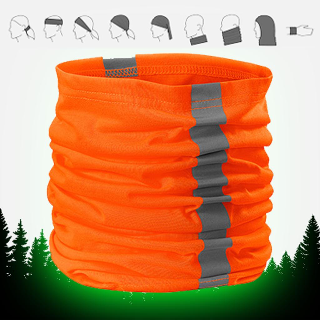 Eşarfă tubulară cu benzi reflectorizante