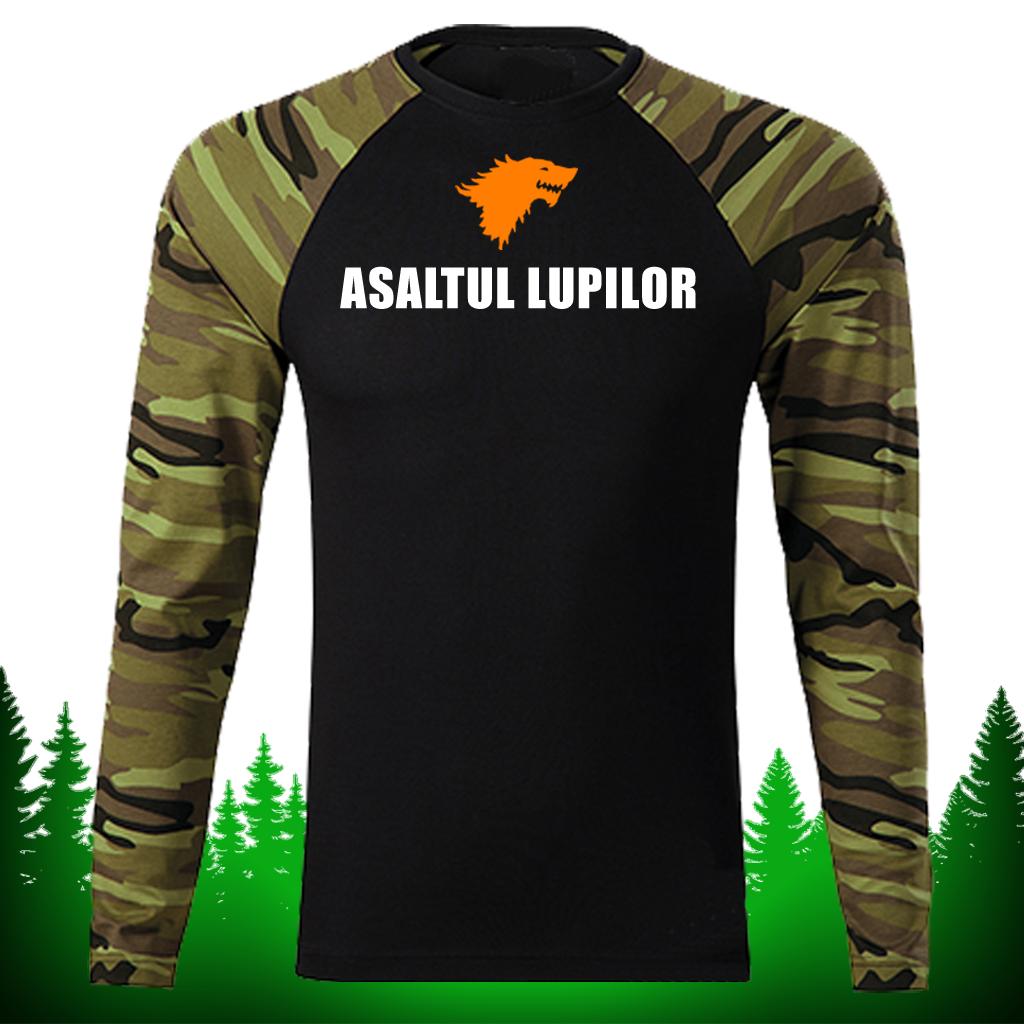 Tricou ARMY - CAMOUFLAGE mânecă lungă unisex