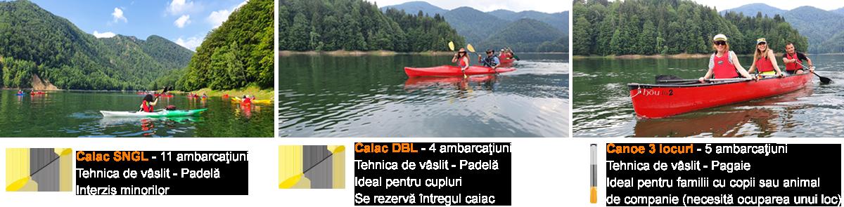 caiac canoe Vidraru